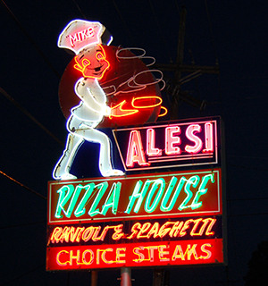 Alesi Pizza House The Original Sign From 1970